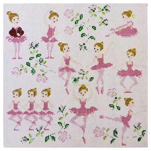 The Ballet Dance Lesson Cross Stitch Pattern