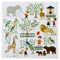 Baby at the Zoo Cross Stitch Pattern