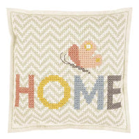Cross stitch felt pillow cushion kit rico design home butterfly chevron