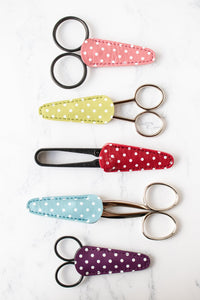 Polka Dot Embroidery Scissor Sheath