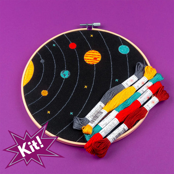 Solar System Hand Embroidery Kit
