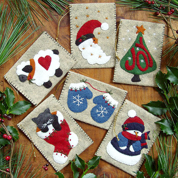 Gift Card Holder Wool Felt Appliqué Kit
