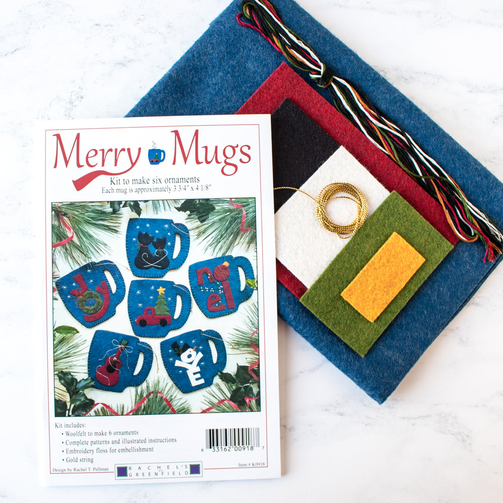 Merry Mugs Ornament Wool Felt Kit