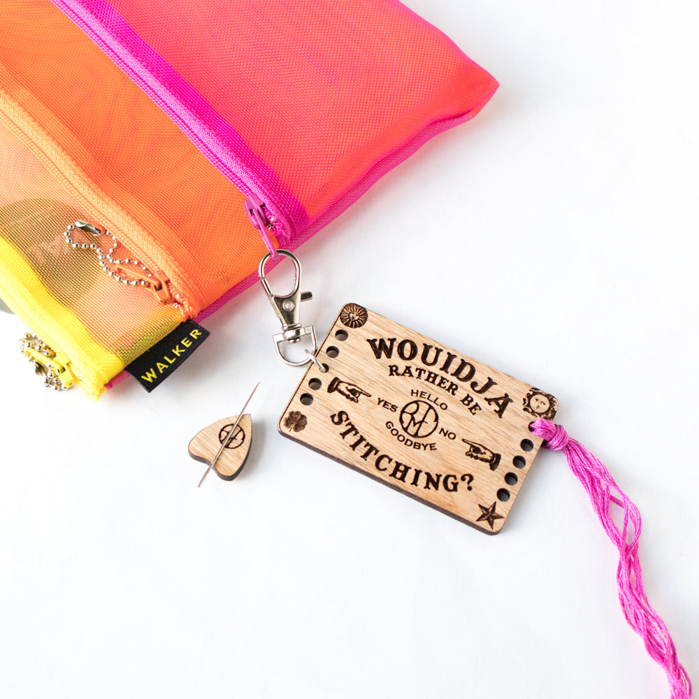 Mini Ouija Board Thread Organizer and Needle Minder Set