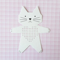 Cross stitch sewing cards by Rico Design - Cat