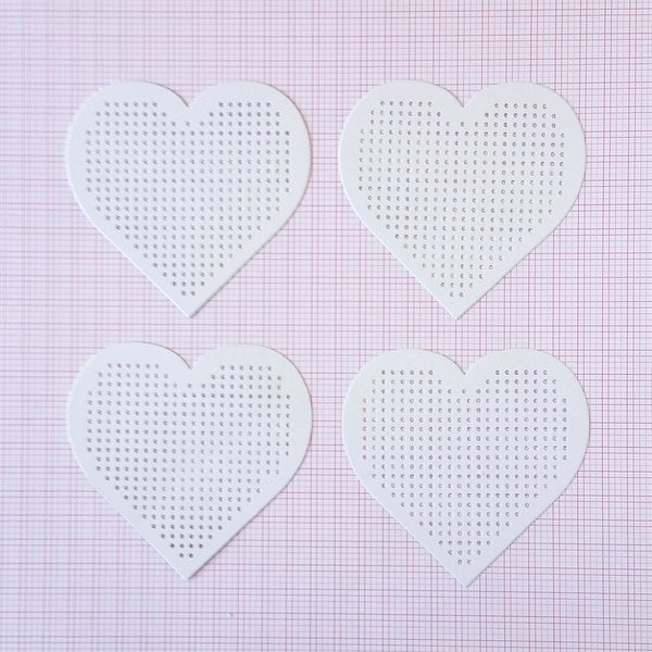 Cross stitch heart sewing cards and embroidery boards by Rico Design