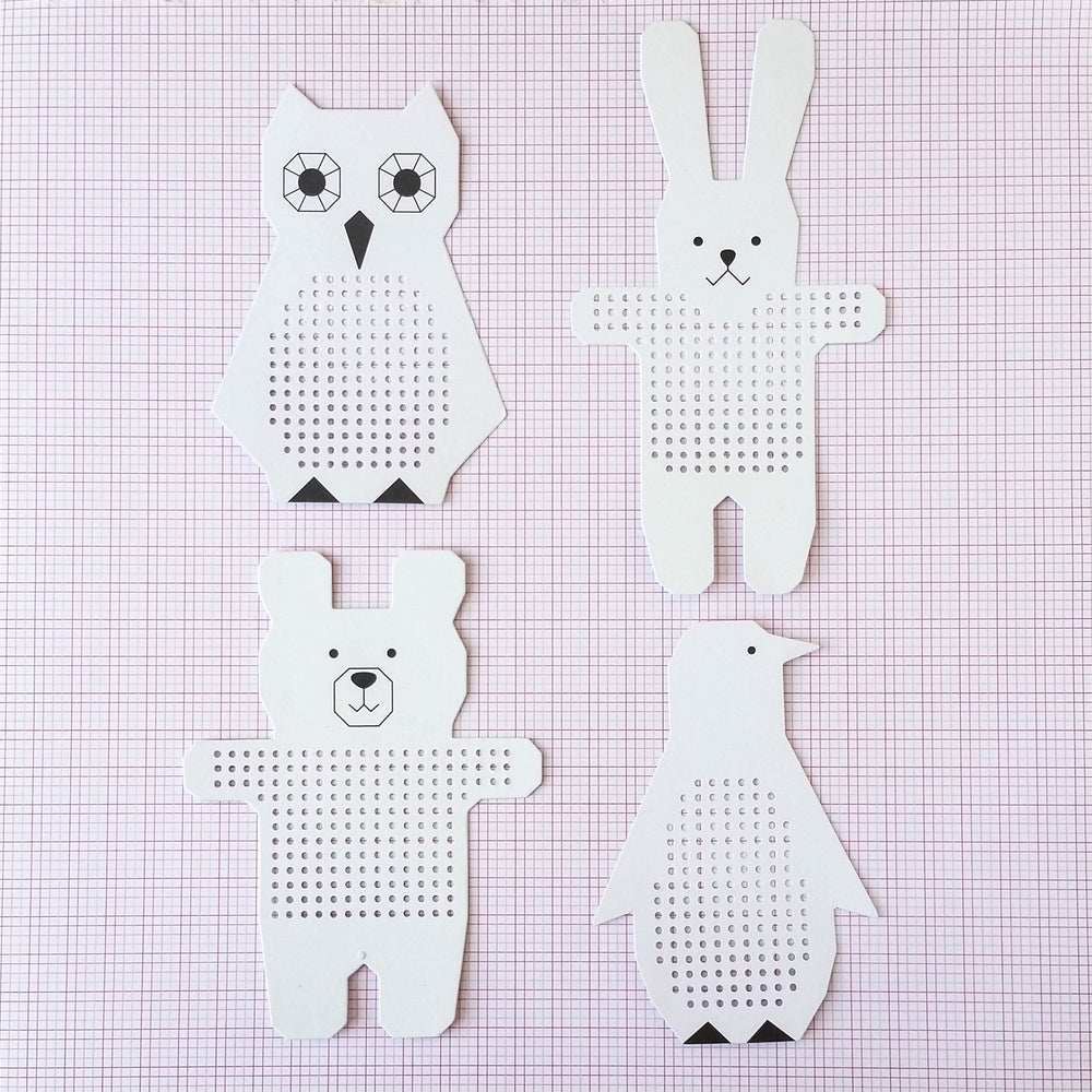Paper Poetry Embroidery Board with Animal Shapes - Set II – Stitched ...