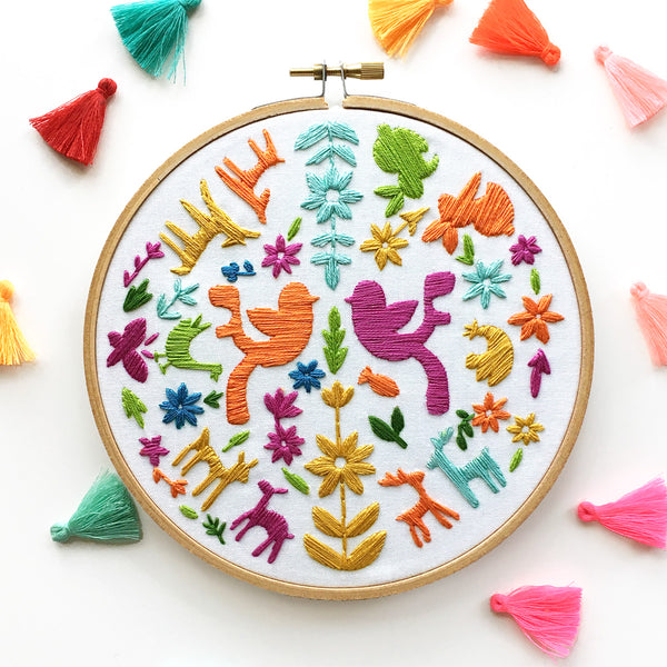 Animal Faire Hand Embroidery Kit