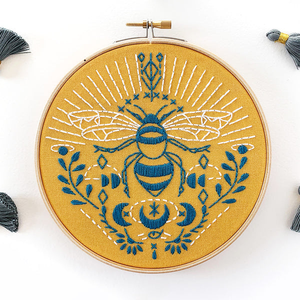 Bee Hand Embroidery Kit