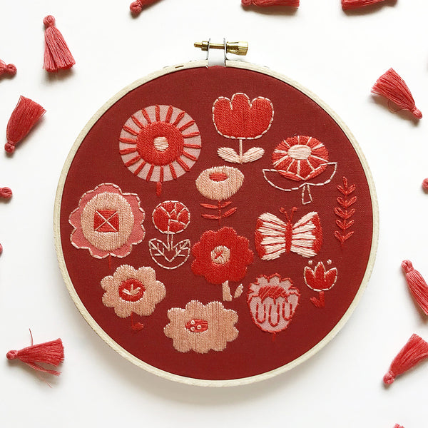 Flowers Hand Embroidery Kit