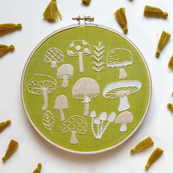 Mushrooms Hand Embroidery Kit