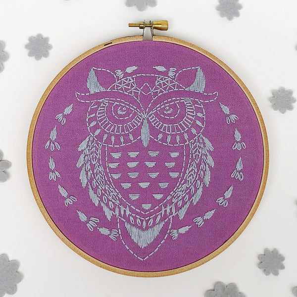 Owl Hand Embroidery Kit