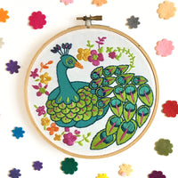 Peacock Hand Embroidery Kit