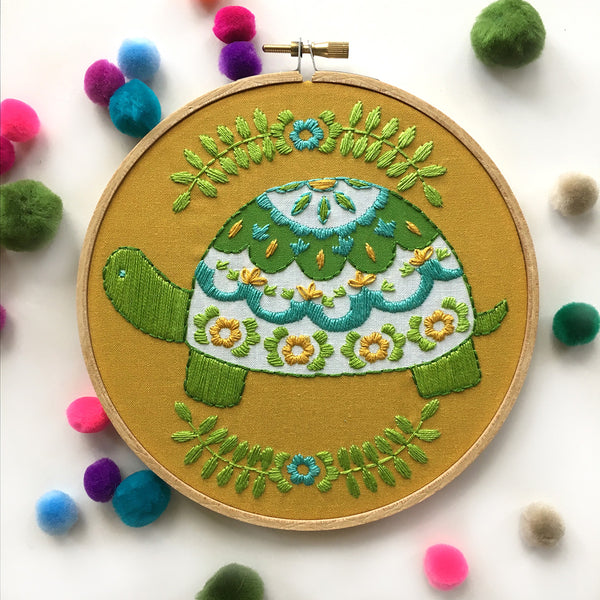 Turtle Hand Embroidery Kit