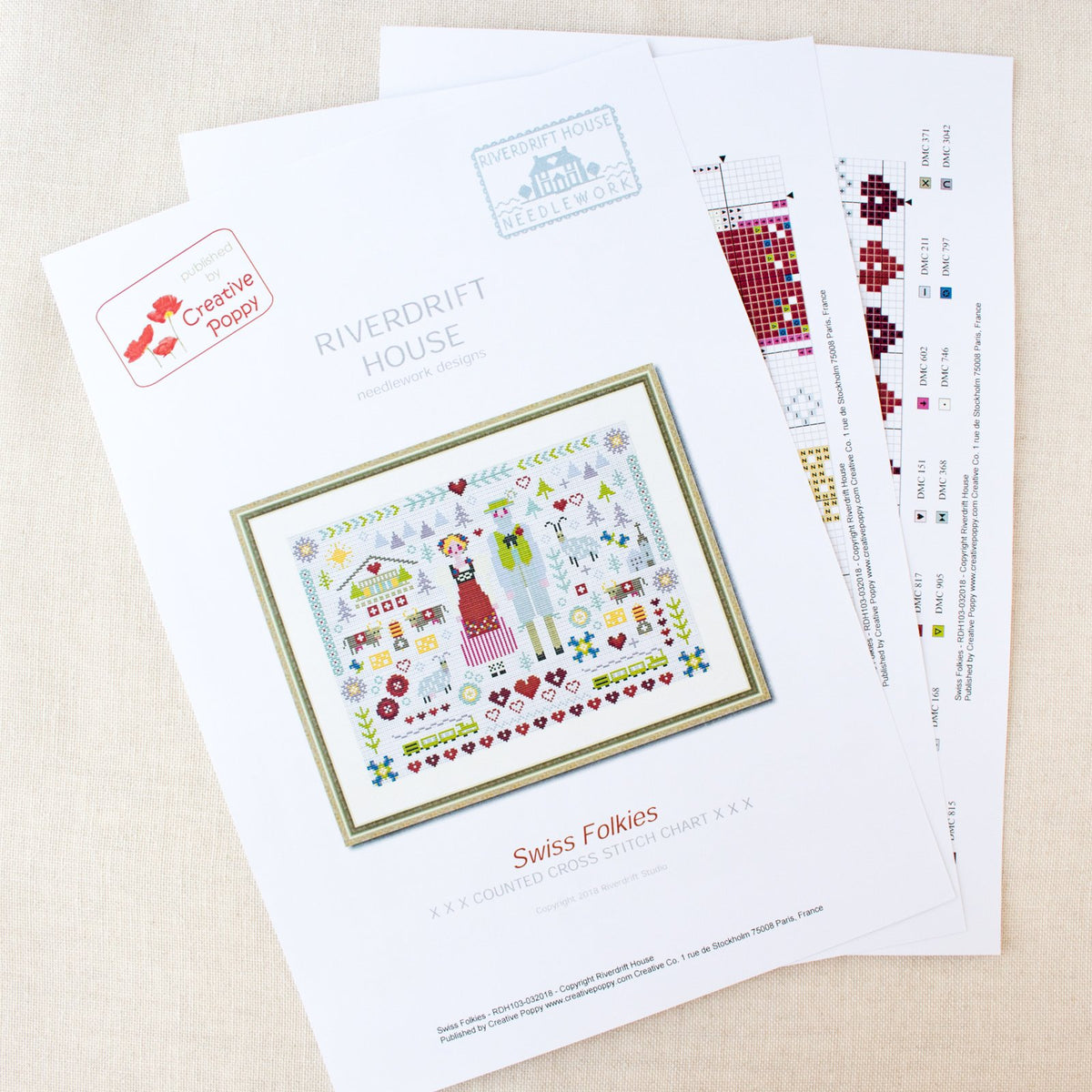 Swiss Folkies Cross Stitch Pattern