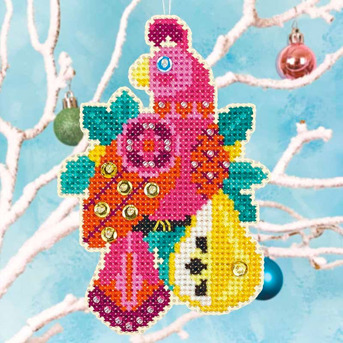 Partridge and Pear Cross Stitch Ornament Kit