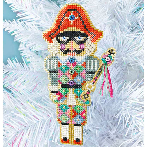 Nutcracker Suite Cross Stitch Ornament Kit - Harlequin