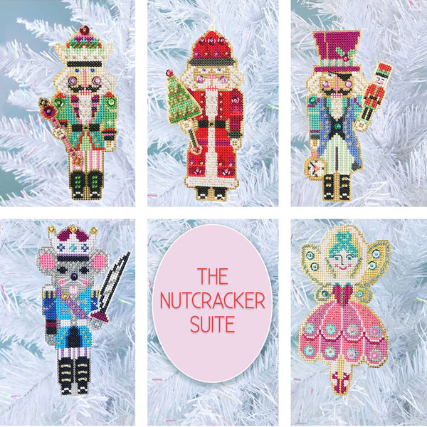 Nutcracker Suite Cross Stitch Ornament Kit, Set of 5
