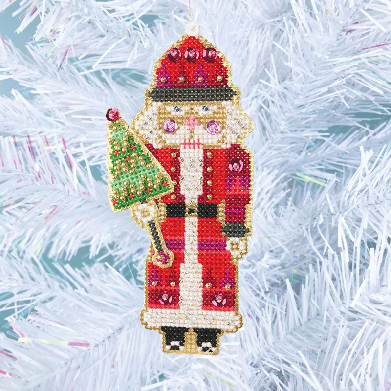 Nutcracker Suite Cross Stitch Ornament Kit - Santa Nutcracker