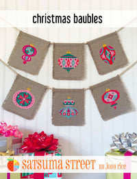 Christmas Baubles Cross Stitch Pattern