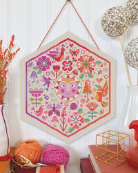 Garden Party Cross Stitch Pattern - Warm