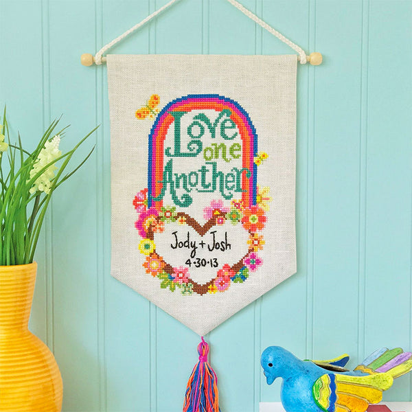 Love One Another Cross Stitch Pattern