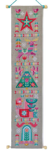 Deck the Halls Cross Stitch Pattern