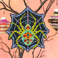 Creepy Crawly Halloween Cross Stitch Ornament Kit