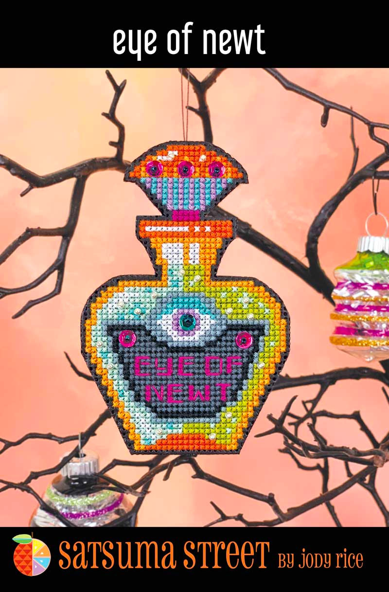 Eye of Newt Halloween Cross Stitch Ornament Kit