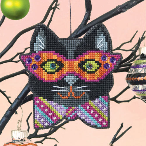 Mister Cat Halloween Cross Stitch Ornament Kit