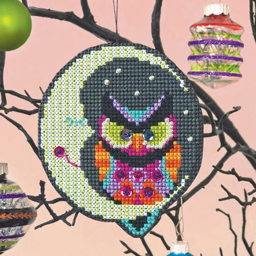 Night Owl Halloween Cross Stitch Ornament Kit