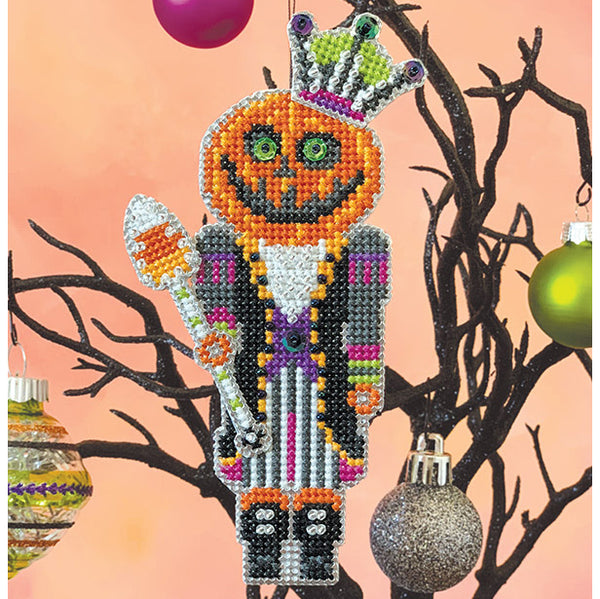 Pumpkin King Halloween Cross Stitch Ornament Kit