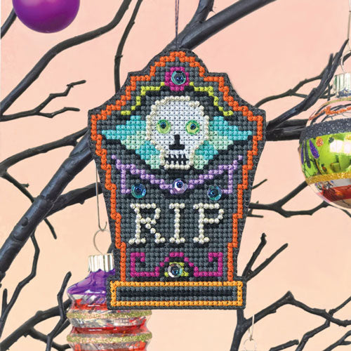 R.I.P. Halloween Cross Stitch Ornament Kit