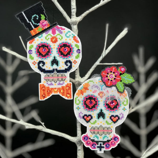 Day of the Dead Sugar Skull Cross Stitch Ornament Kit