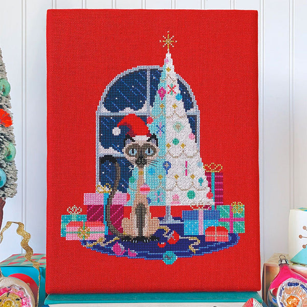 Christmas Cat Cross Stitch Pattern