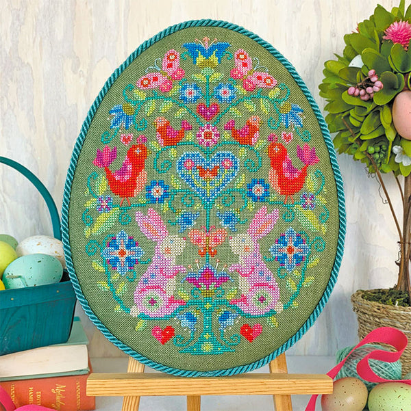 Egg Hunt Cross Stitch Pattern