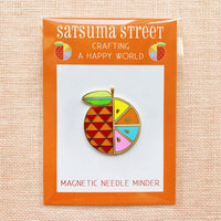 Satsuma Street Orange Enamel Needle Minder