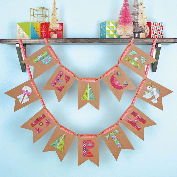 Peace on Earth Holiday Bunting Cross Stitch Kit