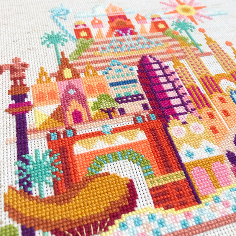 Pretty Little Barcelona Cross Stitch Pattern