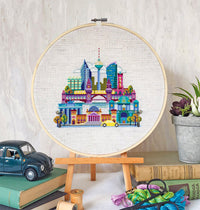 Pretty Little Berlin Cross Stitch Pattern