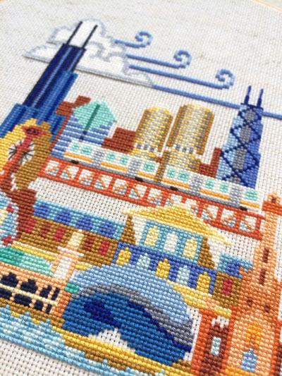 Pretty Little Chicago Cross Stitch Pattern