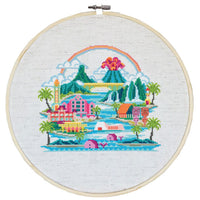 Big Island Hawaii Pattern Only, You Provide The Floss and Fabric Landscapes and Seascapes Counted Cross Stitch Pattern