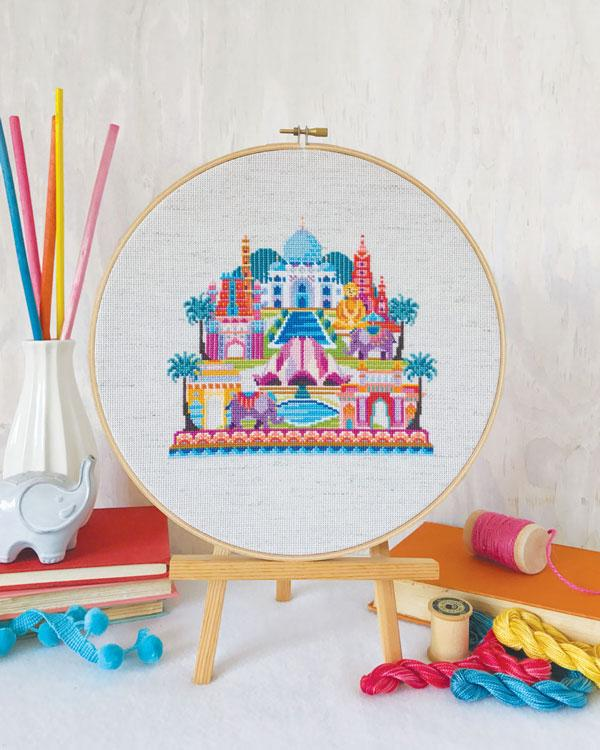 Pretty Little India Cross Stitch Pattern
