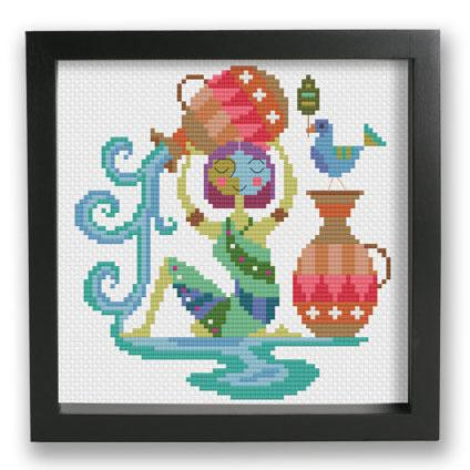 Zodiac Cross Stitch Pattern - Aquarius