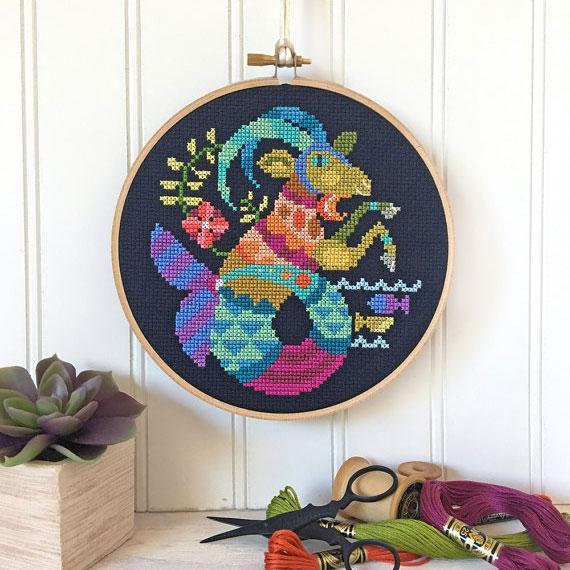 Zodiac Cross Stitch Pattern - Capricorn