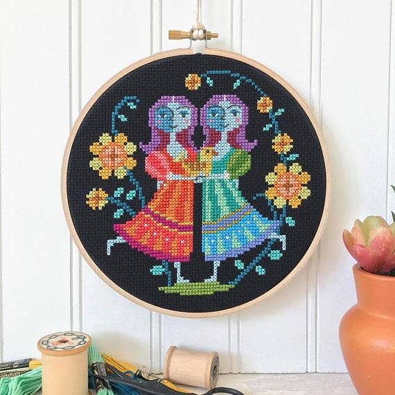 Zodiac Cross Stitch Pattern - Gemini