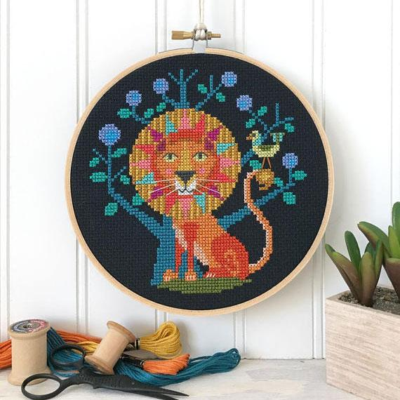 Zodiac Cross Stitch Pattern - Leo