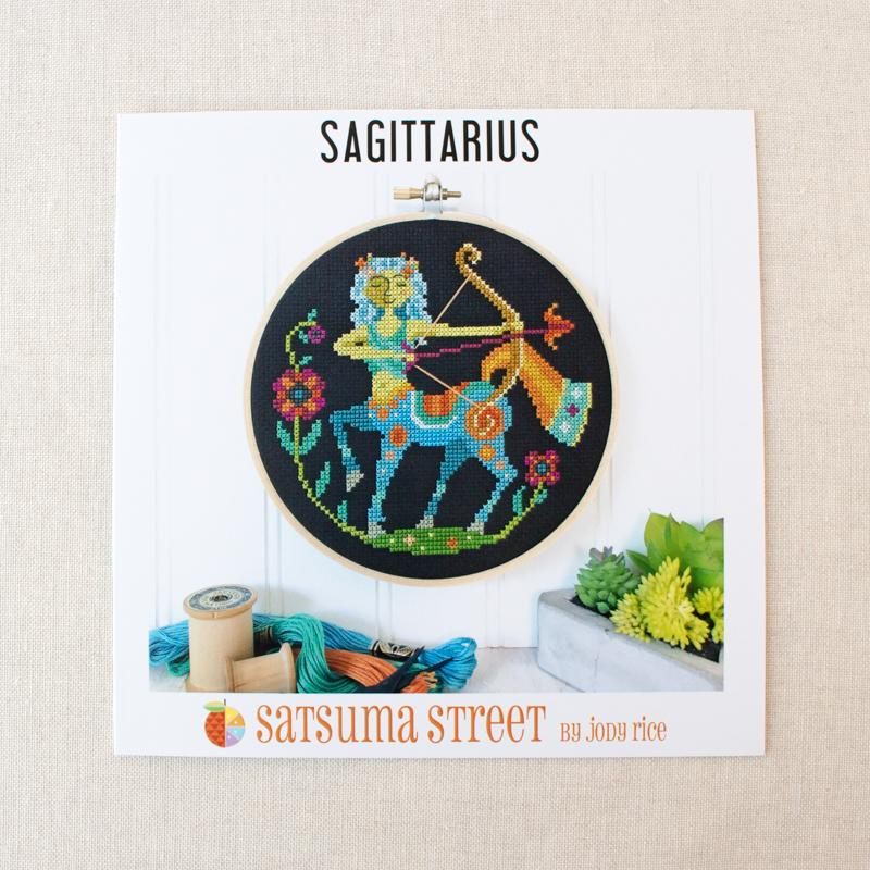 Zodiac Cross Stitch Pattern - Sagittarius