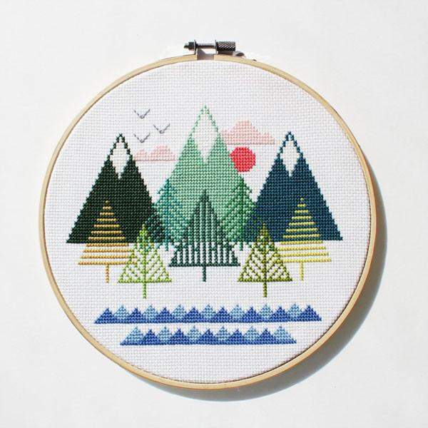 Sea to Sky Cross Stitch Kit