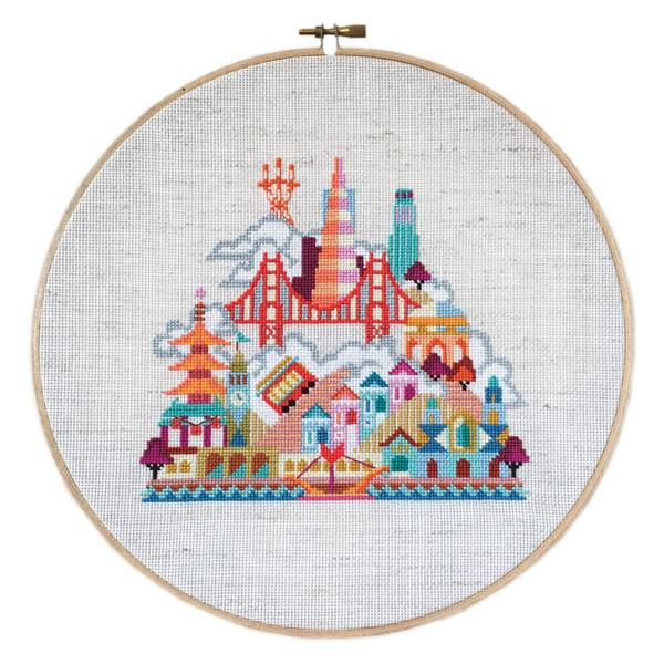 Pretty Little San Francisco Cross Stitch Pattern